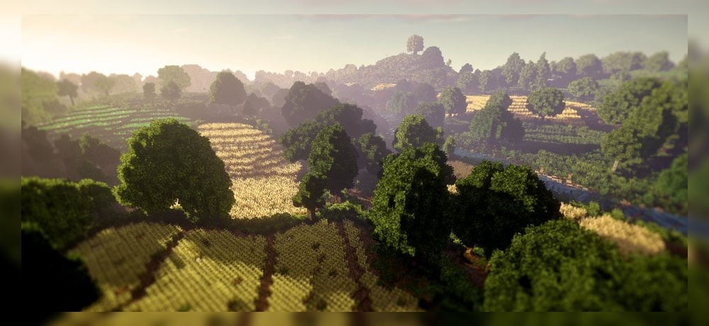 Minecraft 4K - Shire Lord of The Rings